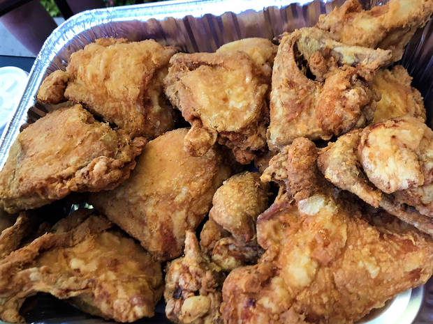 Broasted fried chicken from David Egan of Cattlemen's. [Dave Cathey/The Oklahoman]