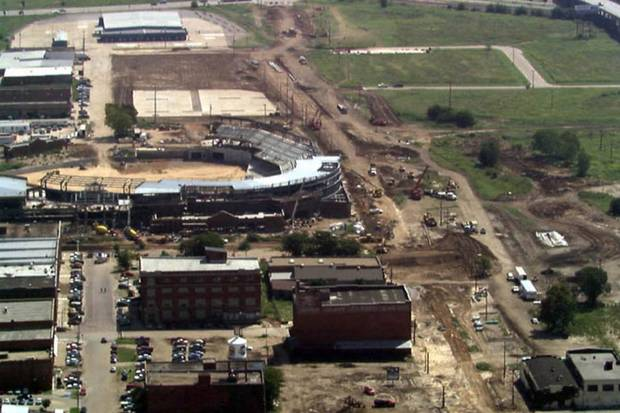 "More than 20 years ago, MAPS funds helped build ""The Brick."" Photo OKC Dodgers."