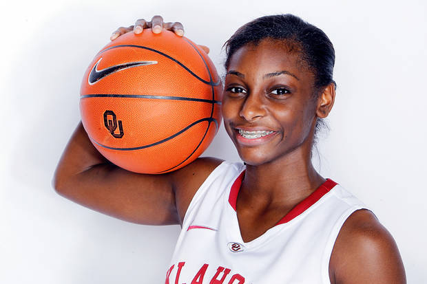 photo - Oklahoma Women's Basketball photo shoot LaNesia Williams. Photo by Ty Russell, OU athletics