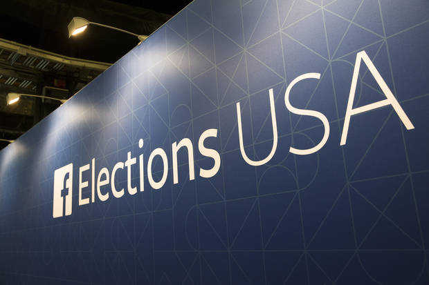 "FILE- In this Aug. 6, 2015, file photo, FaceBook elections signs stand in the media area in Cleveland, Thursday, before the first Republican presidential debate. Breaking more than four days of silence, Zuckerberg admitted mistakes and outlined steps to protect user data in light of a privacy scandal involving a Trump-connected data-mining firm. Zuckerberg posted on his Facebook page Wednesday, March 21, 2018, that Facebook has a ""responsibility"" to protect its users' data. (AP Photo/John Minchillo, File)"