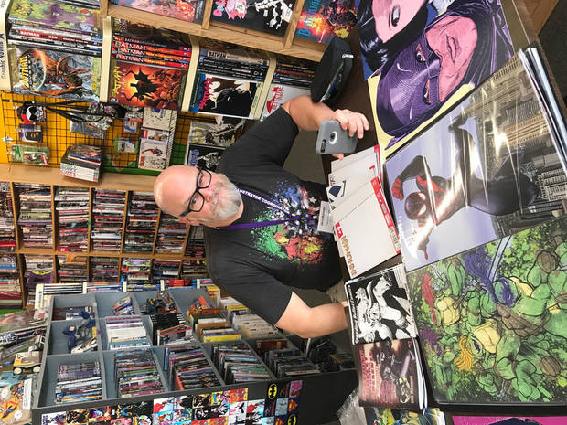 Jerry Bennett at a comic store appearance. Photo by Matthew Price, The Oklahoman