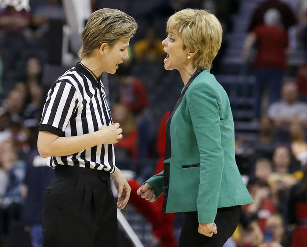 photo - UNIVERSITY OF LOUISVILLE / NCAA TOURNAMENT: Baylor head coach Kim Mulkey during college basketball game between Baylor University and Louisville at the Oklahoma City Regional for the NCAA women's college basketball tournament at Chesapeake Energy Arena in Oklahoma City, Sunday, March 31, 2013. Photo by Sarah Phipps, The Oklahoman