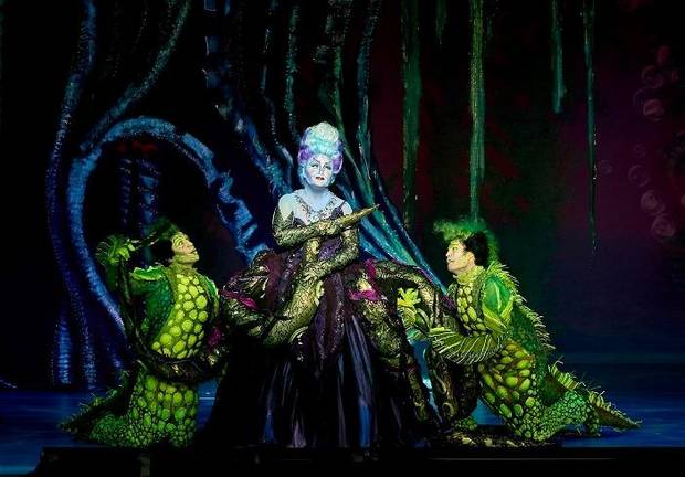 "Jennifer Allen, Brandon Roach and Frederick Hagreen appear in a scene from the musical Disney's ""The Little Mermaid."" Photo provided by Steve Wilson"