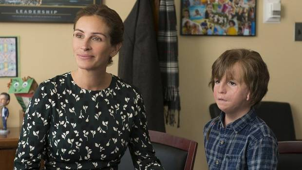 "Jacob Tremblay and Julia Roberts star in ""Wonder."" [Lionsgate photo]"