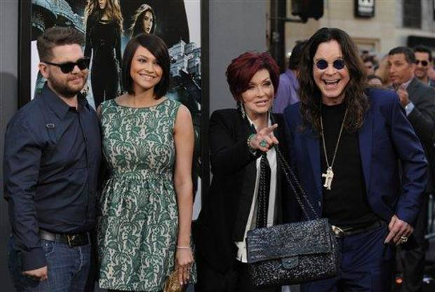 photo - FILE -- In an Aug. 1, 2012 file photo , from left, Jack Osbourne, Lisa Stelly, Sharon Osbourne and Ozzy Osbourne arrive at the