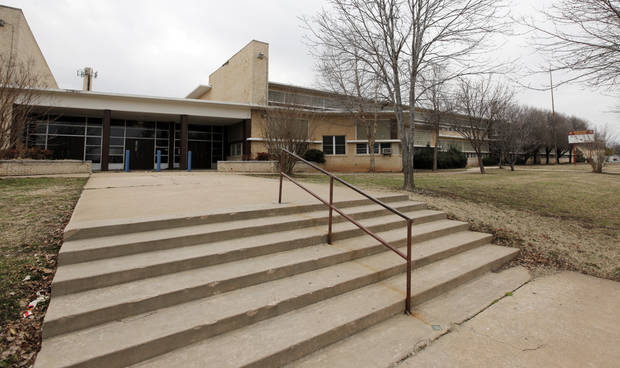 photo -  A view of the old John Marshall High School at 9017 N University in Oklahoma City, which is for sale by the school district, Thursday, Feb. 25, 2010. Photo by Nate Billings, The Oklahoman