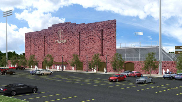 photo - The rendering of the new Taft Stadium from MA+ Architecture. Photo provided
