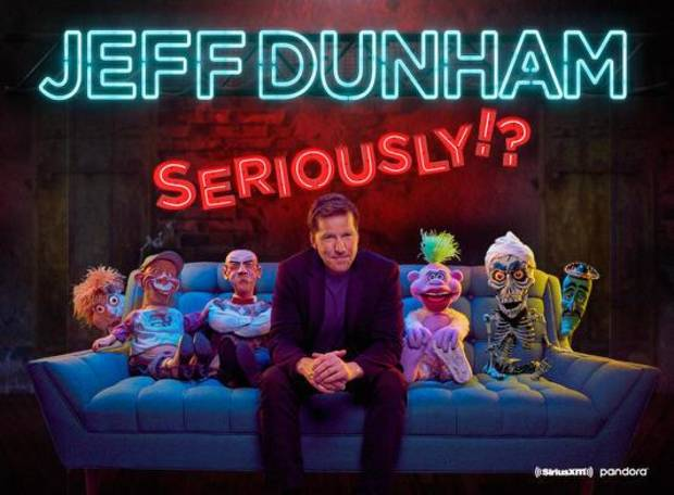 Superstar ventriloquist and stand-up comic Jeff Dunham has again postponed his planned Oklahoma City show due to the coronavirus pandemic. [Poster image provided]