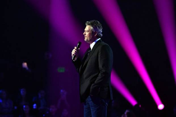 Blake Shelton appears during the 2019 E! People's Choice Awards held at the Barker Hangar on November 10, 2019. [Photo by Emma McIntyre/E! Entertainment]
