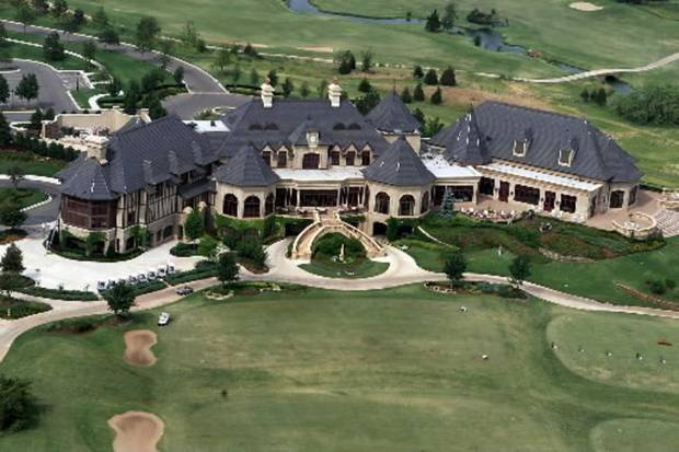 photo - File photo - Aerial view of Gaillardia clubhouse and golf course. Staff photo by Doug Hoke/KWTV NEWS9