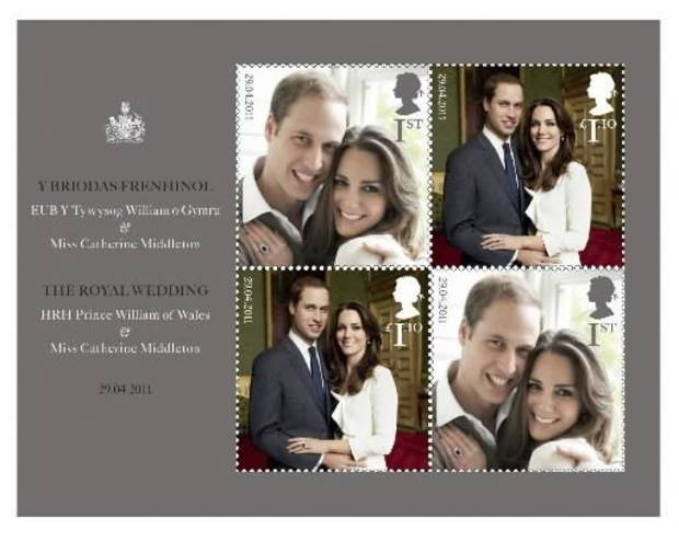 photo - This handout image provided by the US Postal Service shows The Royal Wedding Presentation Pack being sold by the Postal Service. Britain's Royal Mail issued a special commemorative stamp for the wedding and American postal authorities are offering it as part of a wedding commemorative packet. (AP Photo/USPS)