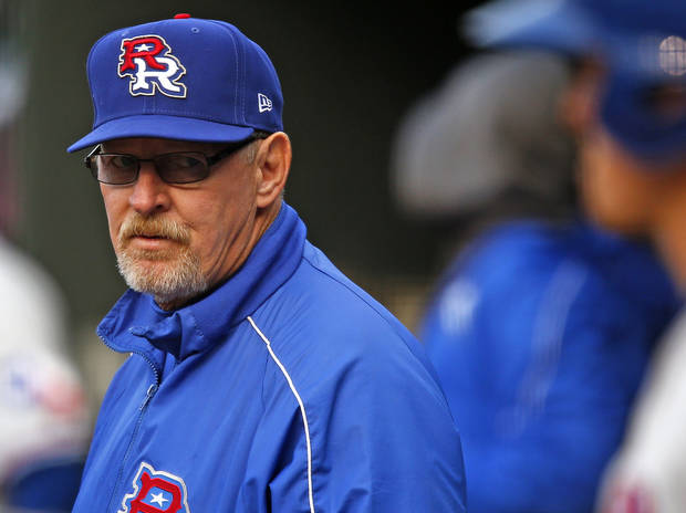 photo - Manager Bobby Jones of the Round Rock Express during a baseball game against the RedHawks at Chickasaw Bricktown Ballpark in Oklahoma City, Tuesday, April 16, 2013. Photo by Bryan Terry, The Oklahoman