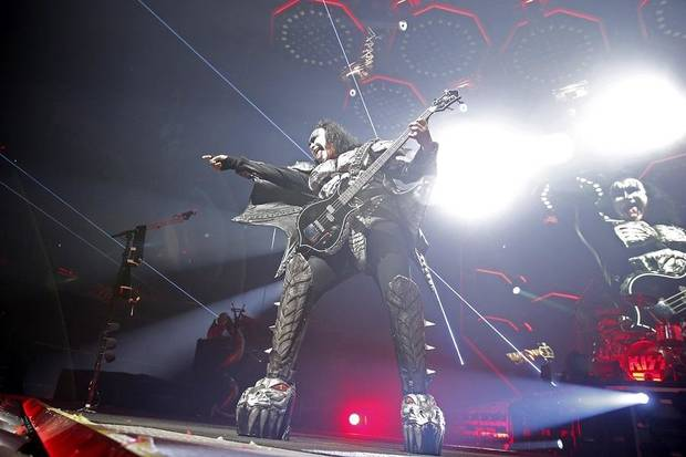 "Gene Simmons with KISS performs during the band's ""End of the Road World Tour"" stop at Chesapeake Energy Arena in Oklahoma City, Tuesday, Feb. 26, 2019. [Bryan Terry/The Oklahoman Archives]"