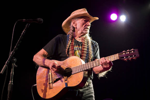 Willie Nelson performing live at The Jones Assembly on Nov. 22, 2017. [Photo by Nathan Poppe, The Oklahoman]