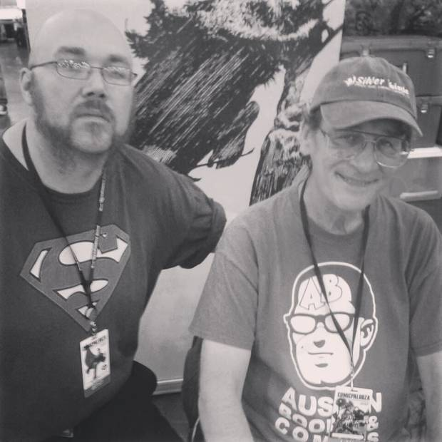 Christophe Murdock with Bernie Wrightson in 2013. [photo provided by Christophe Murdock]