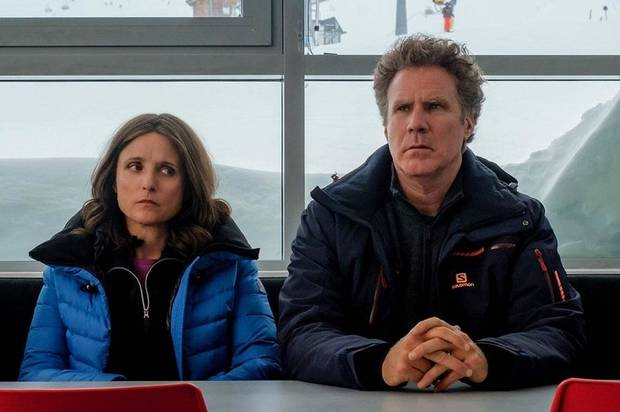 "Will Ferrell and Julia Louis-Dreyfus star in ""Downhill."" [Searchlight Pictures photo]"