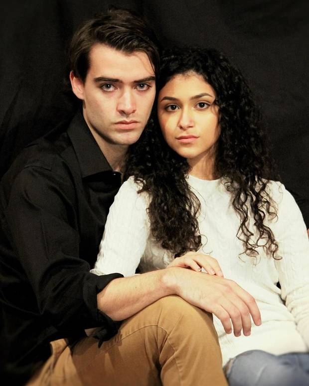 "Bryan Lewis and Nikki Mar star in Oklahoma Shakespeare's new production of ""Romeo & Juliet."" [April Porterfield photo]"