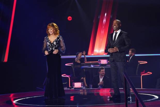 "Oklahoma native Reba McEntire and Darius Rucker co-hosted and performed ""In the Ghetto"" on Wednesday's CMA Awards. [John Russell/CMA]"