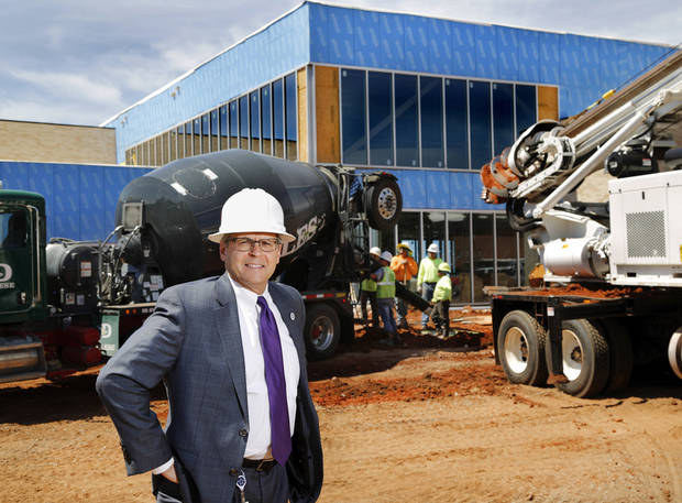 MAPS 3 Program Manager David Todd stood outside the second MAPS 3 senior health and wellness center during construction. At 4021 S. Walker Ave., the center opened in May. [Photo by Jim Beckel, The Oklahoman]
