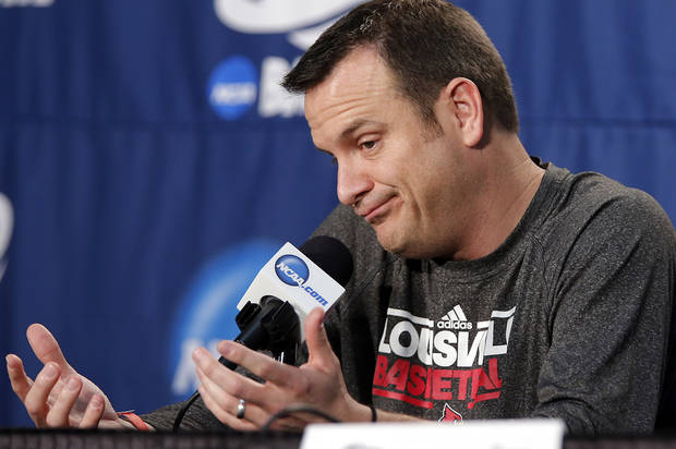 photo - Louisville coach Jeff Walz speaks during media day for the NCAA Women's Basketball regional final game at the Chesapeake Arena on Monday, April 1, 2013, in Oklahoma City, Okla.  Photo by Chris Landsberger, The Oklahoman