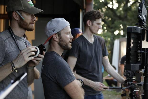 OKC filmmaker Kyle Roberts, center, is executive director of Kingdom Media Club, a new nonprofit film and television production company that is launching in Oklahoma City. [Photo provided]