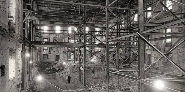 photo - The inside of the White House, after being gutted in 1950. (National Archives)