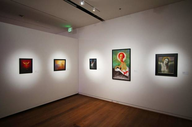 "An exhibit of works by O. Gail Poole titled ""Sideshow"" is shown at the Fred Jones Jr. Museum of Art, on the University of Oklahoma campus in Norman, Thursday, January 23, 2020. [Doug Hoke/The Oklahoman]"