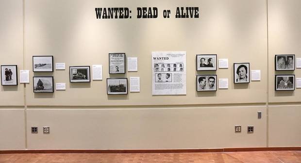 "The Oklahoma History Center's exhibit ""Wanted: Dead or Alive"" is comprised of images of some of Oklahoma's most infamous outlaws and lesser-known criminals and will be on display until Feb. 29. [Photo by Doug Hoke/The Oklahoman]"