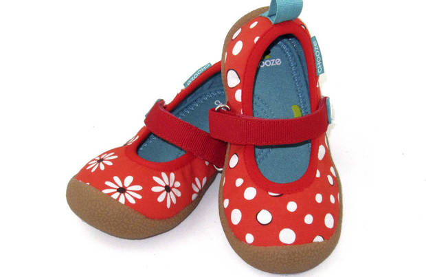 photo - Chooze shoes offer creative footwear, with a right shoe that varies in color or pattern from the left. In toddler-youth sizes, $44 to $48, at choozeshoes.com. (MCT)