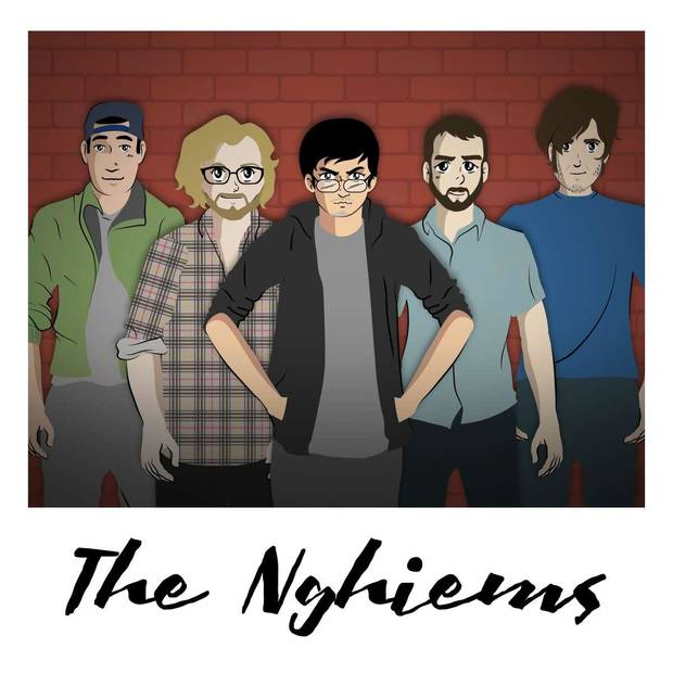 From left, The Nghiems live concert lineup is David Nghiem, Dylan Eubanks, James Nghiem, Mike Allen and Derek Moore. [Image provided]