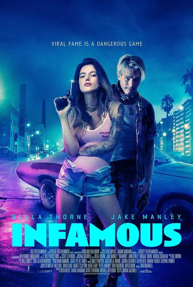 "Bella Thorne and Jake Manley star in ""Infamous."" [Vertical Entertainment]"