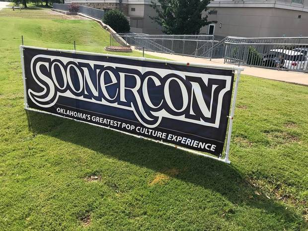 SoonerCon banner outside SoonerCon 27 [photo by Matthew Price, The Oklahoman]