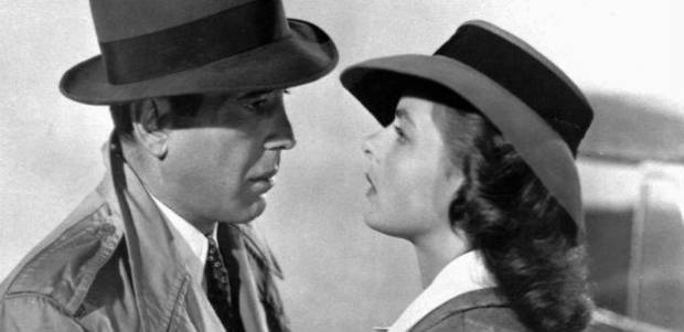 "photo - ""We'll always have Paris."" Humphrey Bogart and Ingrid Bergman in the classic movie ""Casablanca."""