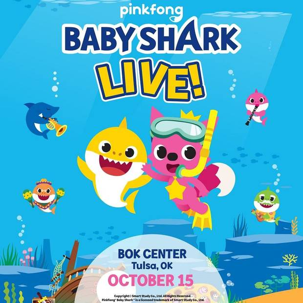"A favorite of the toddler, preschool and grade-school sets, the viral hit ""Baby Shark"" is getting its own concert tour, coming soon to Oklahoma. [Poster provided]"