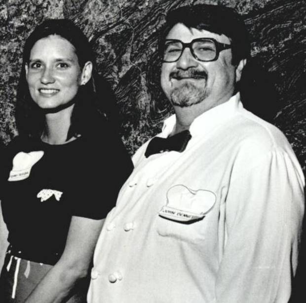 Chefs Franny Pasternik and John Bennett, May 25, 1988.