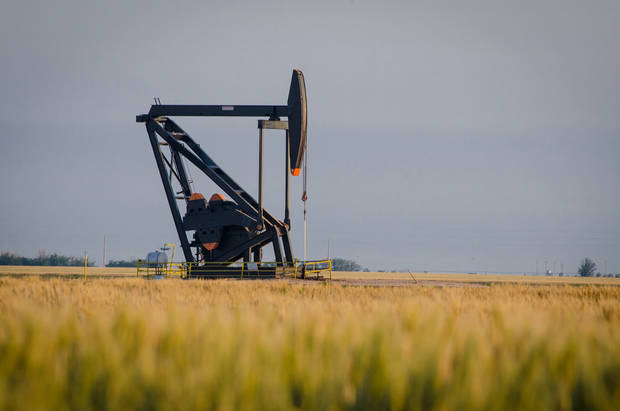 photo -  A pump jack operates at Chaparral Energy Inc.'s Farnsworth enhanced oil recovery unit, one of six such projects in the Oklahoma and Texas panhandles. Photo provided    -