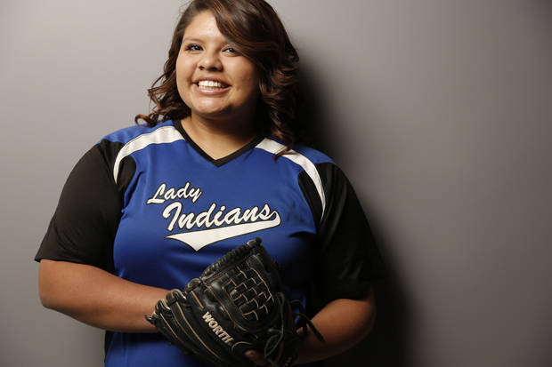 photo - Andee Frazier, Little Axe, Little All-City Softball Player of the Year, Wednesday, November 21, 2012. Photo by Doug Hoke, The Oklahoman
