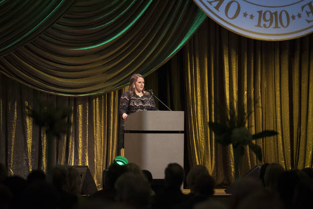 Jeanna Shea is an OBU alumna and current admissions counselor at OBU. She shared her story at the 2017 gala of how her OBU education dramatically impacted her life. Photo provided by OBU