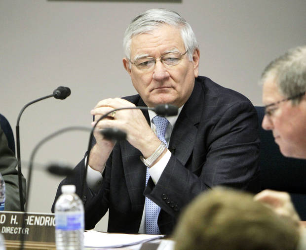photo - Howard Hendrick  announced Tuesday he is retiring as  director of the Oklahoma Department of Human Services. He made his announcement at the end of his regular presentation during a monthly meeting of DHS commissioners in Oklahoma City. Photo by PAUL HELLSTERN,  The Oklahoman