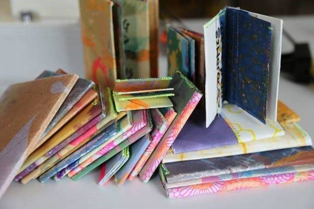 "Oklahoma artist Virginia Sitzes is one of the July participants in Oklahoma Contemporary's Studio-in-Place program. She is partnering with poet Lily Greenberg in a community participation project called ""Shaken Out of the Screen,"" with the goal of creating a series of handmade books and screenprints. [Image provided]"