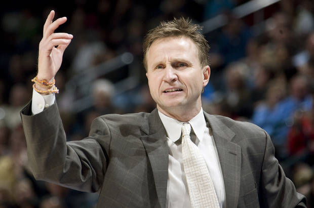 photo - Thunder head coach Scott Brooks wears bracelets made by his children on his right wrist at all times. PHOTO BY SARAH PHIPPS, THE OKLAHOMAN