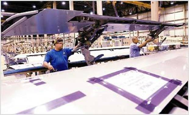 photo - Engineers at Spirit Aerosystems could be eligible for a tax credit under the new engineering work force bill. , Provided by the Oklahoma Aeronautics Commission