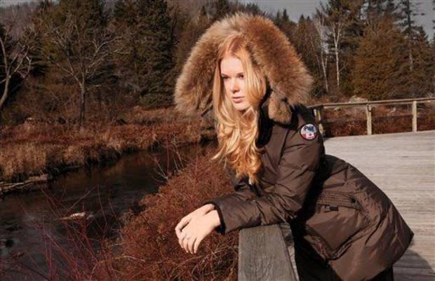 photo - This product image released by Pajar Canada shows a mocha colored Cougar jacket made of rabbit and raccoon fur. (AP Photo/Pajar Canada)