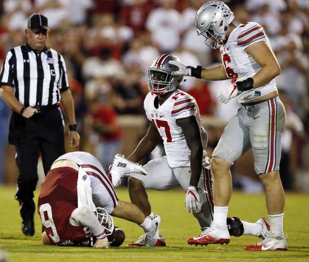 <p>A year ago, Ohio State blew the doors off Baker Mayfield and OU, ending OU's hopes at a College Football Playoff berth. [PHOTO BY NATE BILLINGS, THE OKLAHOMAN]</p>