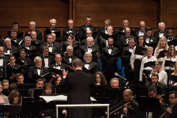 Canterbury Voices will perform its traditional Canterbury Christmas concert at 7 tonight at the Civic Center Music Hall. Photo provided