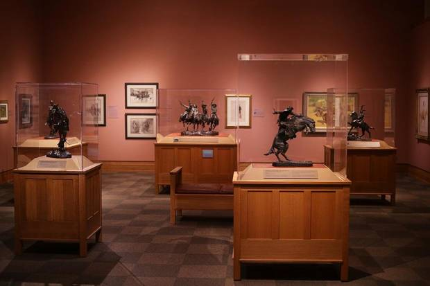 Works by Frederic Remington are on view in the National Cowboy & Western Heritage Museum's newly remodeled Atherton Gallery on September 12, 2020. [Doug Hoke/The Oklahoman]