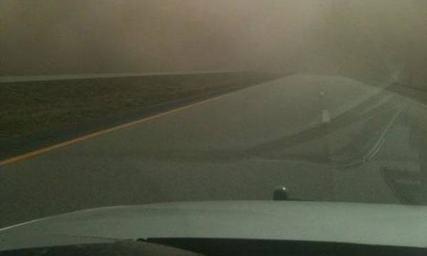 photo - Interstate 35 near Blackwell exit 222. Photo courtesy Tulsa World via the Blackwell Police Department