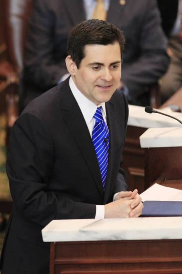Russell Moore, president of the Southern Baptist Convention's Ethics & Religious Liberty Commission, serves as keynote speaker at the 2014 Rose Day Rally gathering at the Oklahoma State Capitol. [Oklahoman Archives]
