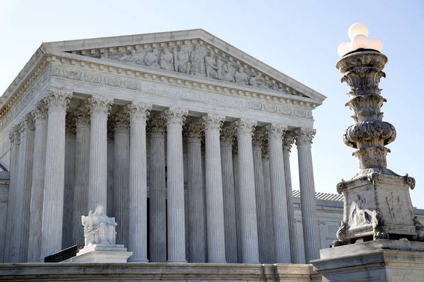 The Supreme Court is seen Monday in Washington, D.C. President Donald Trump announced his choice on a replacement for retiring Supreme Court Justice Anthony Kennedy on Monday evening. [AP Photo/Jacquelyn Martin]