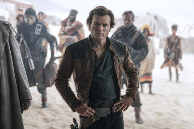 In this image released by Lucasfilm Alden Ehrenreich appears in a scene from